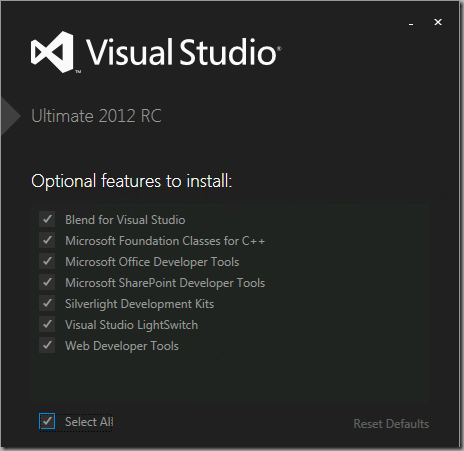Feedback about Visual Studio