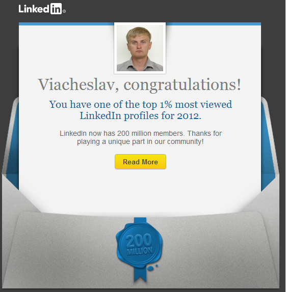 Viacheslav One of the most viewed profiles on LinkedIn