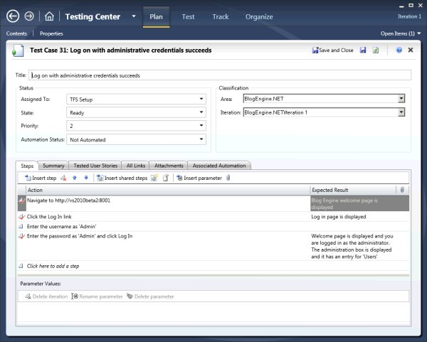 Testing Management with Visual Studio 2010