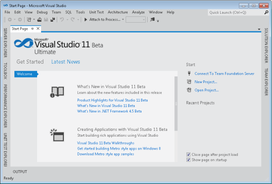vNext - Microsoft Visual Studio 2011 IDE features
